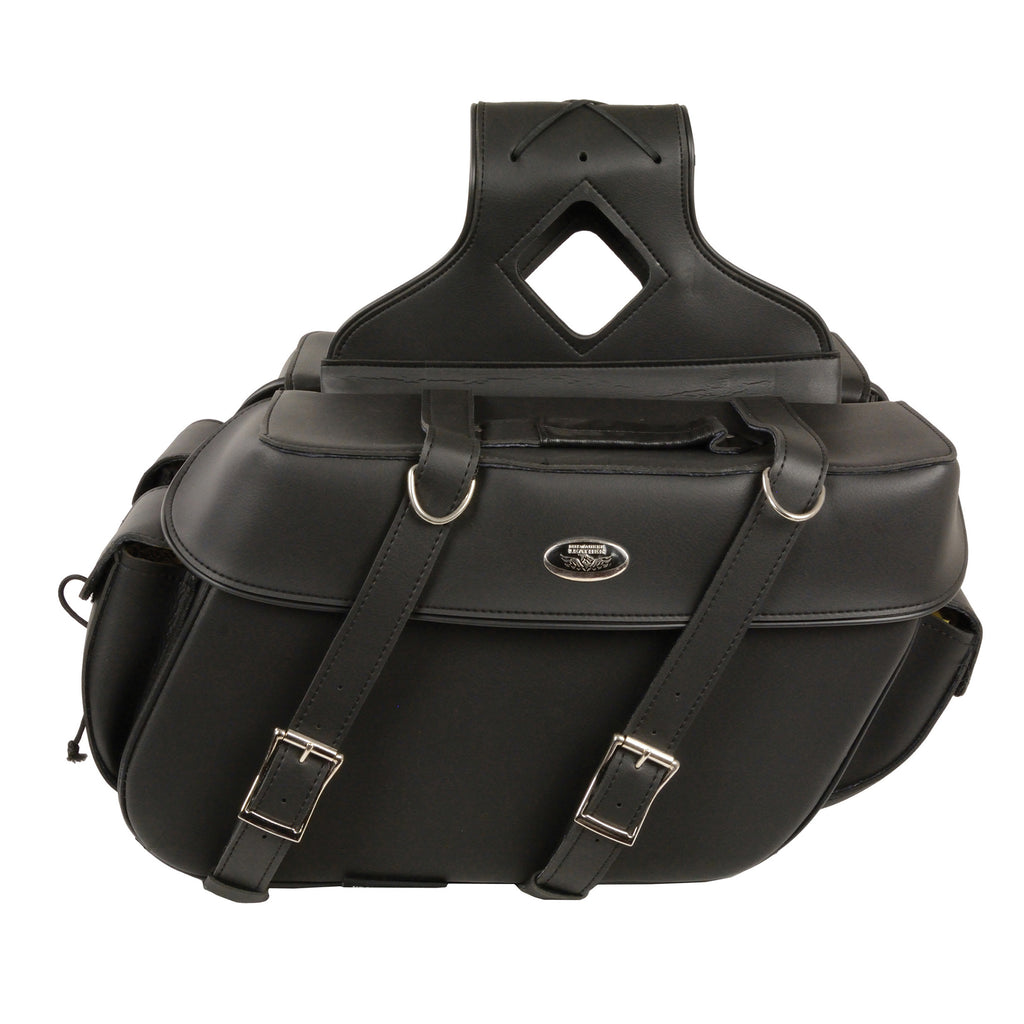 Large Zip-Off PVC Throw Over Saddle Bag (16X11X6X22)