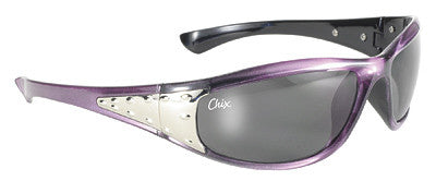 Chix Sterling- Smoke Fade Lens/Purple Frame - Maine-Line Leather