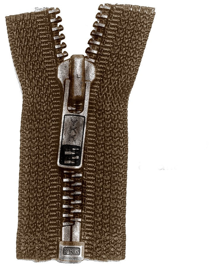 #6 Zipper Brown Cloth
