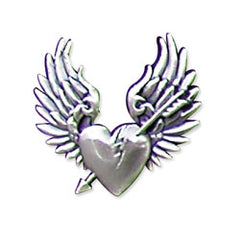 "Broken Heart Concho 1-1/4"" (3.2 cm) x 1-1/8"" - Maine-Line Leather"