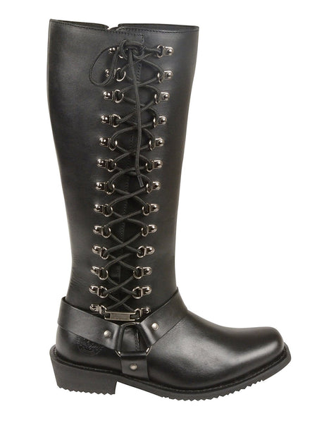 Milwaukee Leather Women S Tall Boots With Side Lacing