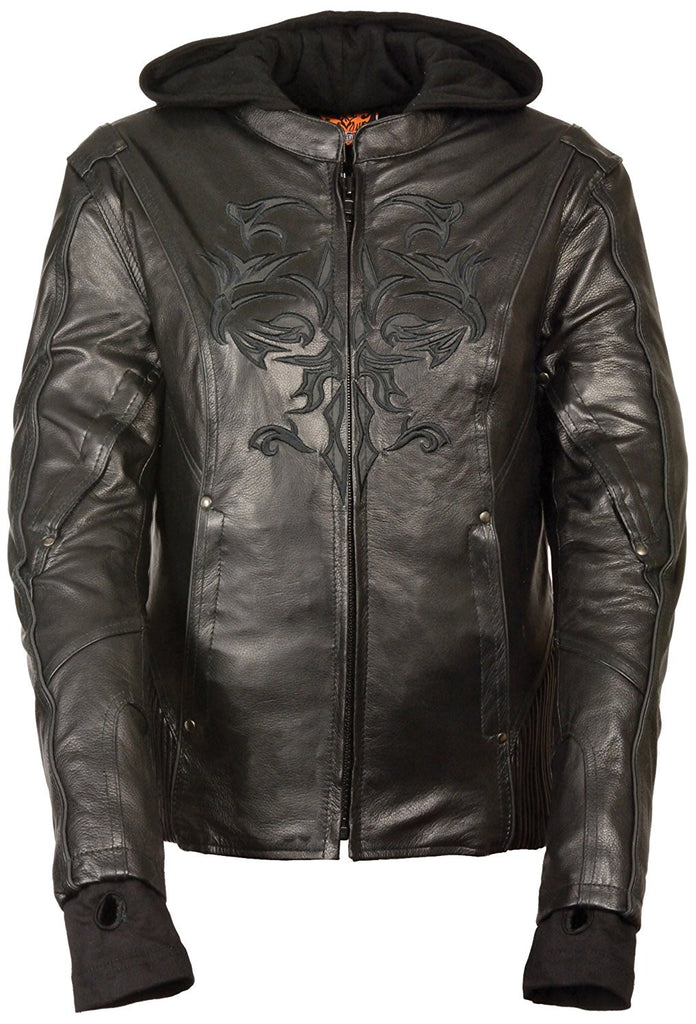 Milwaukee Women's 3/4th Leather Jacket Black