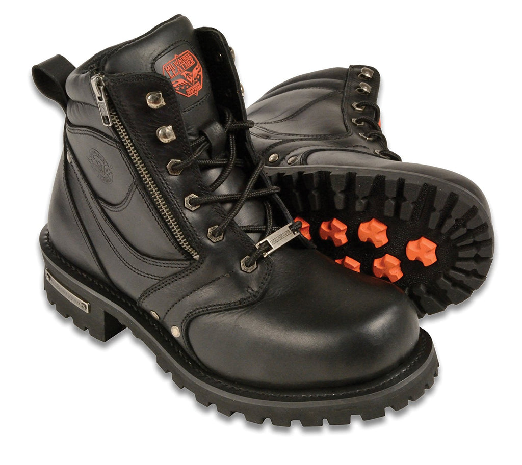 Milwaukee Men's Wide Boots with Zip and Laces