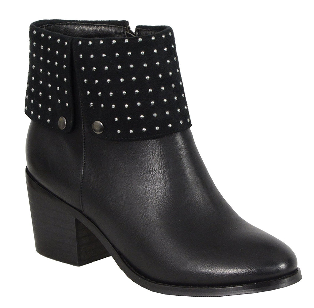 Milwaukee Performance Women's Side Zipper Entry Round Toe Boots with Studs