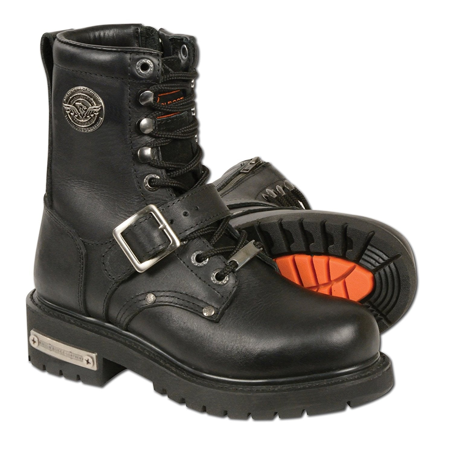 Milwaukee Leather Women's Classic Motorcycle Boots - Maine-Line Leather - 1