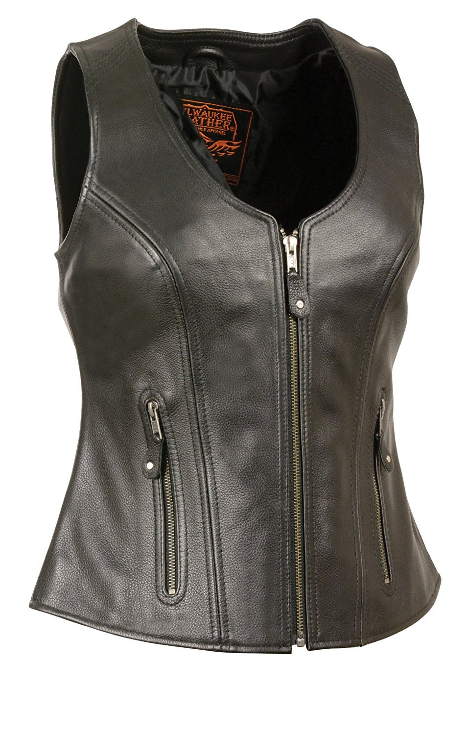 Milwaukee Women's Zipper Vest with Stitch Detailing