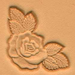 Rose Corner Craftool 3-D Stamp - Maine-Line Leather