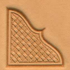 Basketweave Corner Craftool 3-D Stamp - Maine-Line Leather