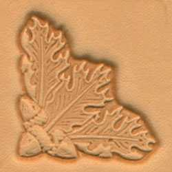 Oak Leaf Corner Craftool 3-D Stamp - Maine-Line Leather