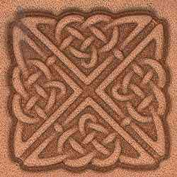 Square Celtic Craftool 3-D Stamp - Maine-Line Leather