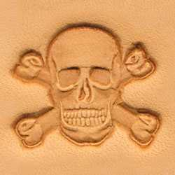 Skull & Crossbones Craftool 3-D Stamp - Maine-Line Leather