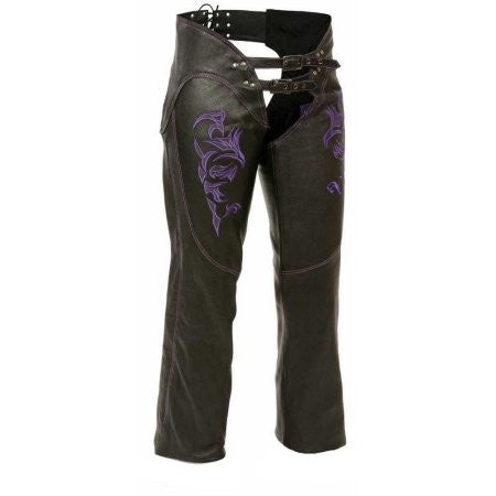 Milwaukee Women's Leather Chaps Purple - Maine-Line Leather - 1
