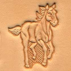Running Horse Craftool 3-D Stamp - Maine-Line Leather