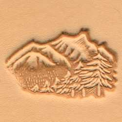 Mountains & Trees Craftool 3-D Stamp - Maine-Line Leather