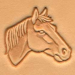 Horse Head 3-D Stamp (Left) - Maine-Line Leather