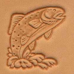 Trout Craftool 3-D Stamp - Maine-Line Leather