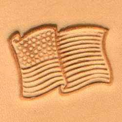USA Flag Craftool 3-D Stamp - Maine-Line Leather