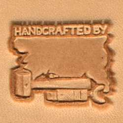 Handcrafted By Craftool 3-D Stamp