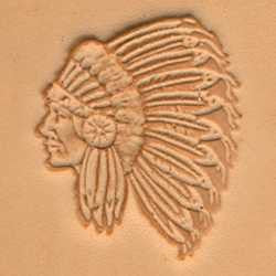 Indian Chief Craftool 3-D Stamp - Maine-Line Leather