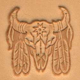 Indian Skull Craftool 3-D Stamp - Maine-Line Leather