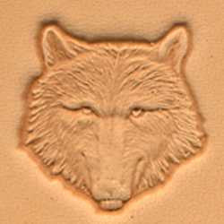 Wolf Head Craftool 3-D Stamp