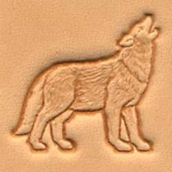 Wolf Craftool 3-D Stamp - Maine-Line Leather