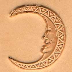 Moon Face Craftool 3-D Stamp - Maine-Line Leather