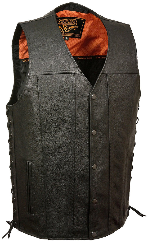 Milwaukee Men's Straight Bottom Side Lace Vest