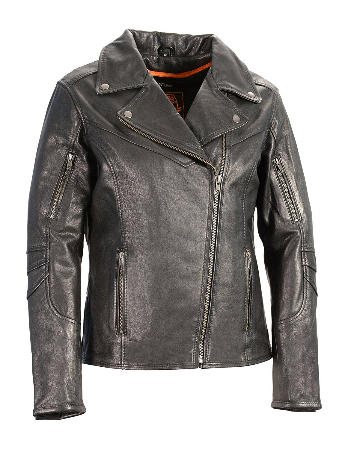 Milwaukee Leather Women's Vented Motorcycle Jacket - Maine-Line Leather - 1