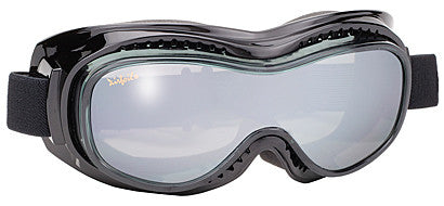 Mirror Anti-Fog Lens/Black Frame can be worn over eye glasses