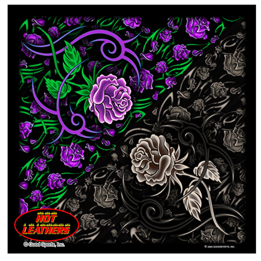 Hot Leathers Tribal Rose Bandana