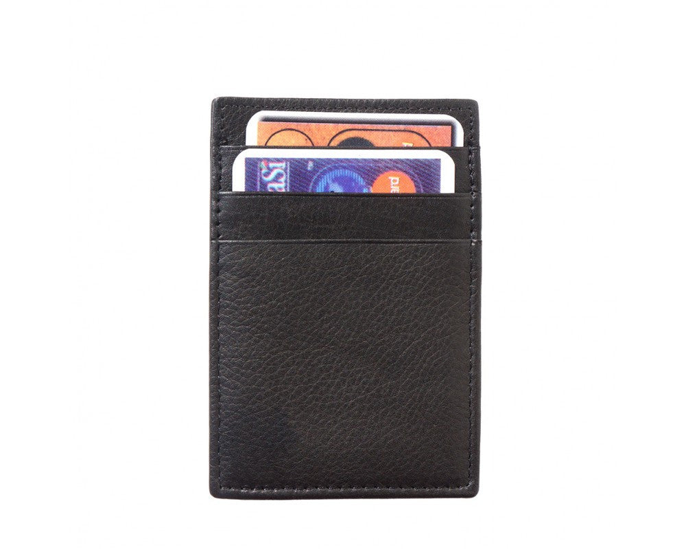 Credit Card Holder With Money Clip In Soft Leather Multi Colors
