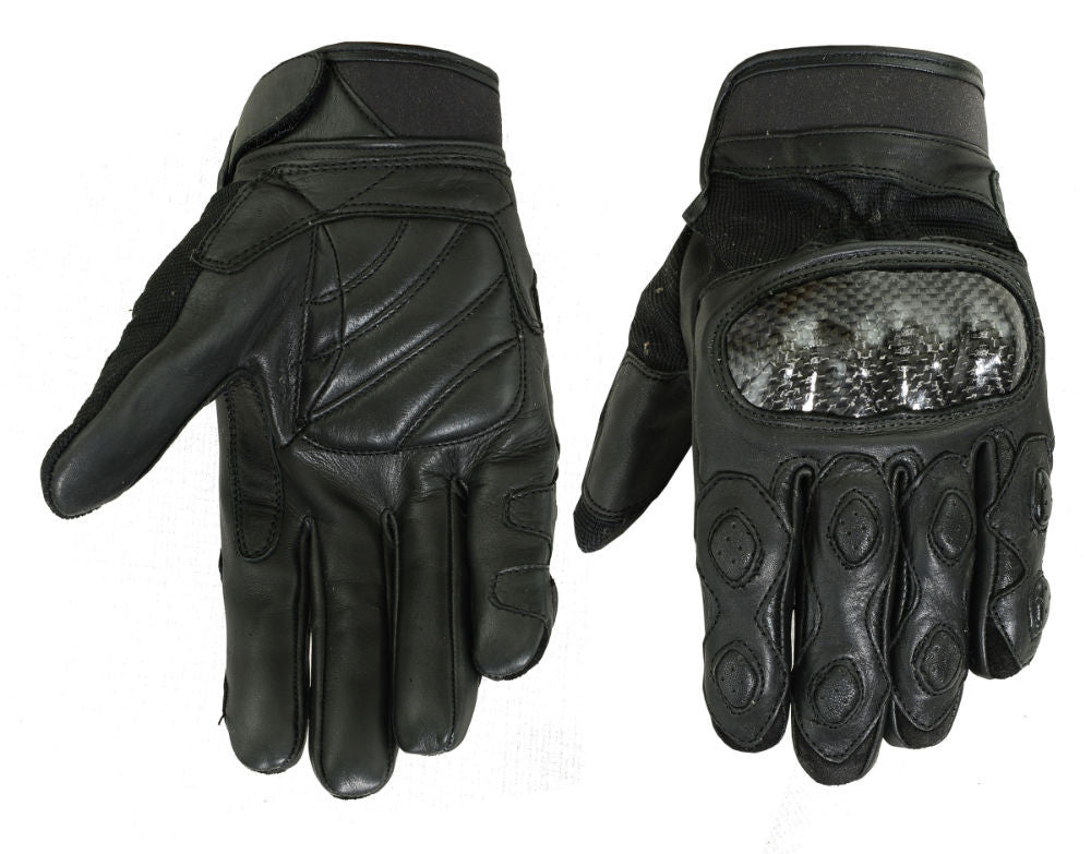 Men's Leather/ Textile Sporty Glove