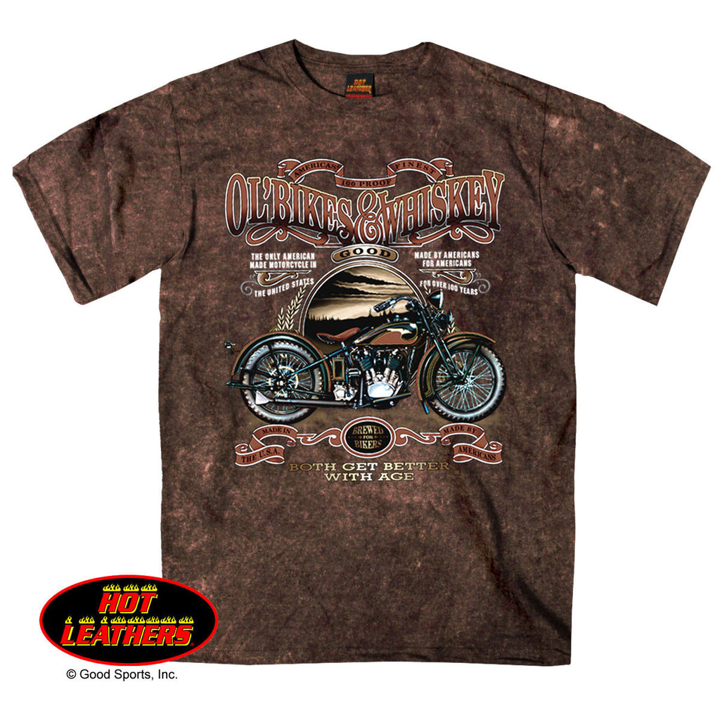 Ol' Bikes & Whiskey Sand Brown T-Shirt