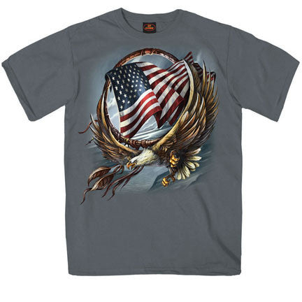 Grey Short Sleeve Hoop Eagle Shirt