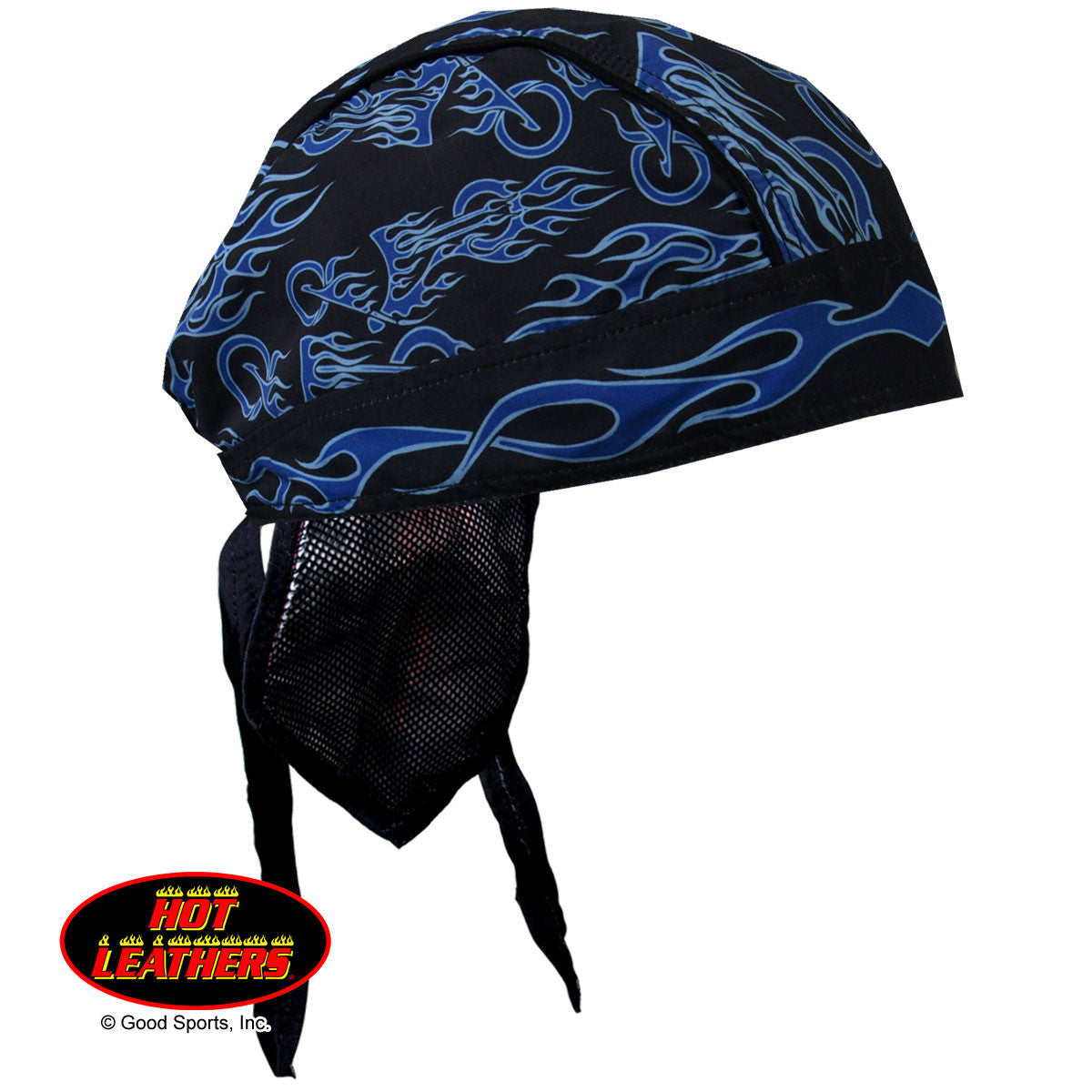Blue Fire Bike Head Wrap