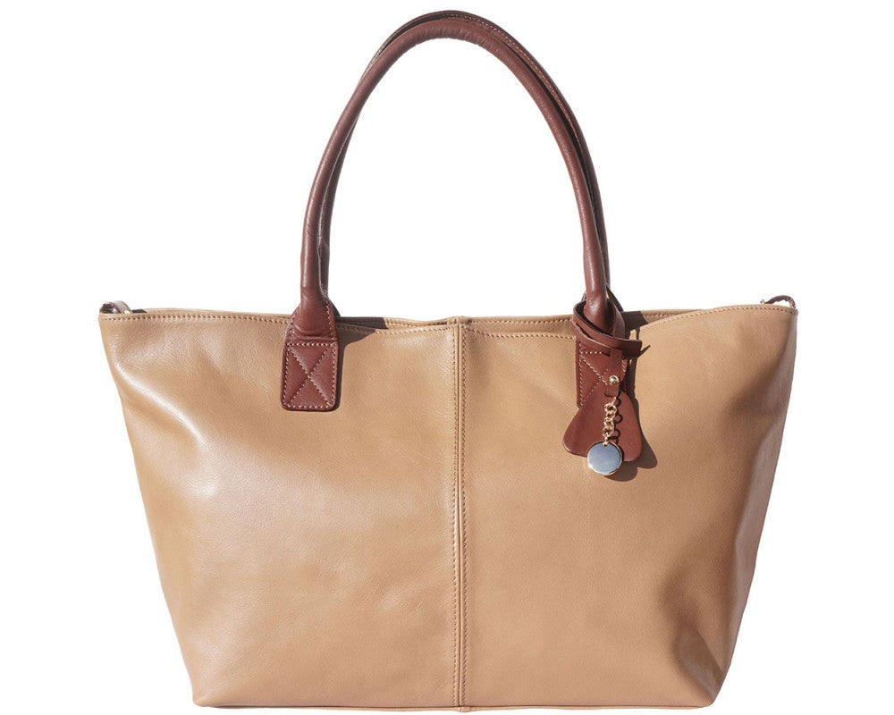Leather Tote Shopping Bag with Double Handle Multi Colors - Maine-Line Leather - 1