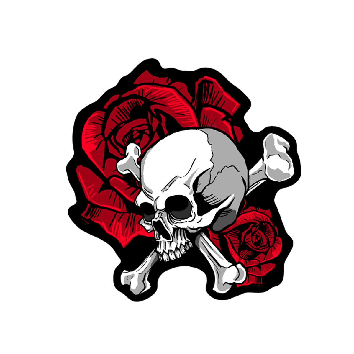 Skull and Roses - Maine-Line Leather