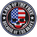 Land of the Free Skull - Maine-Line Leather