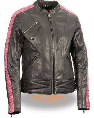 Milwaukee Leather Women's Jacket with Ribbon Detail