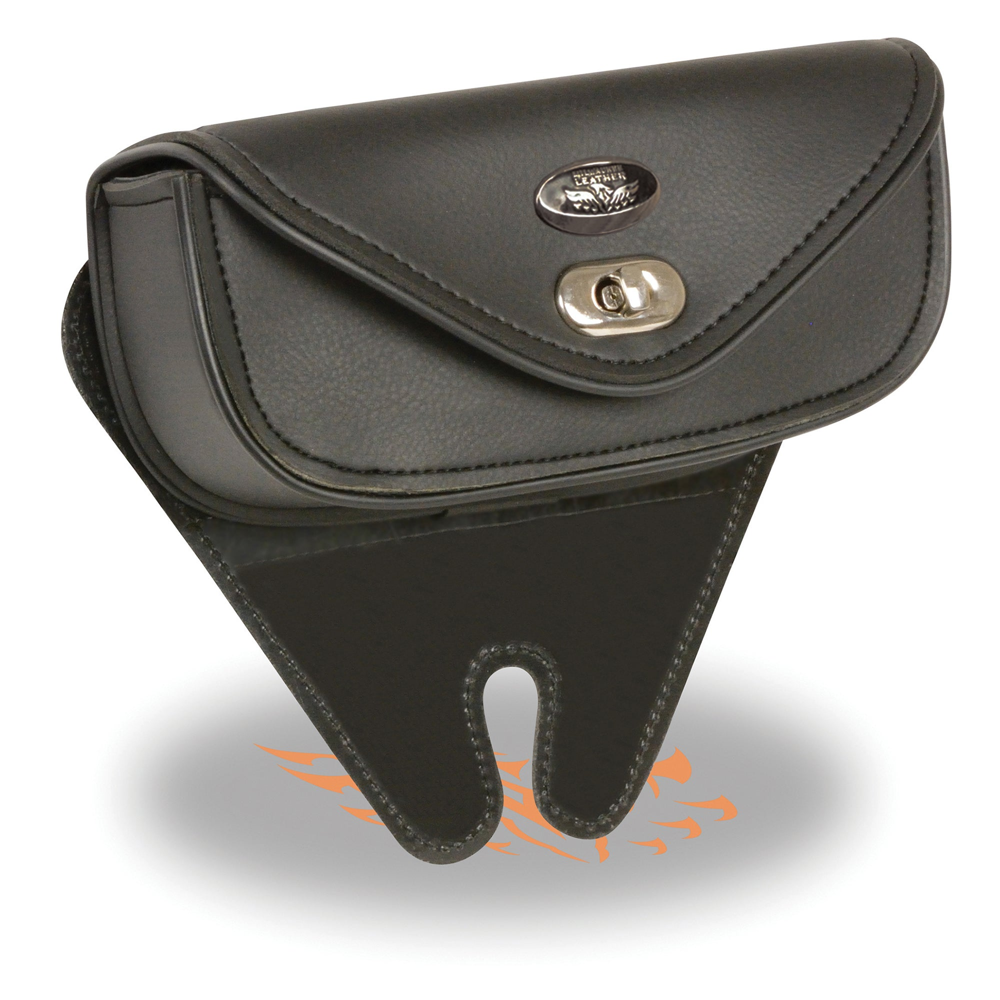 Small Single Pocket Windshield Mount Bag w/ Turn Clasp (8.5X4X3)