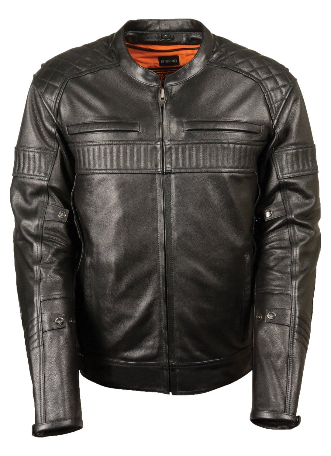 Milwaukee Men's Quilted Pattern Triple Vented Scooter Jacket - Maine-Line Leather - 1
