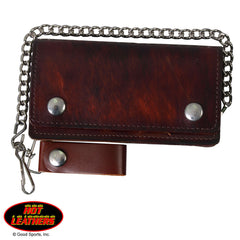Bifold Wallet in Antique Brown - Maine-Line Leather