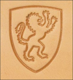 Craftool 3-D Stamp Lion Shield - Maine-Line Leather