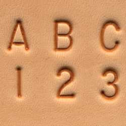 "Craftool 1/4"" (6 mm) Alphabet & Number Set - Maine-Line Leather"