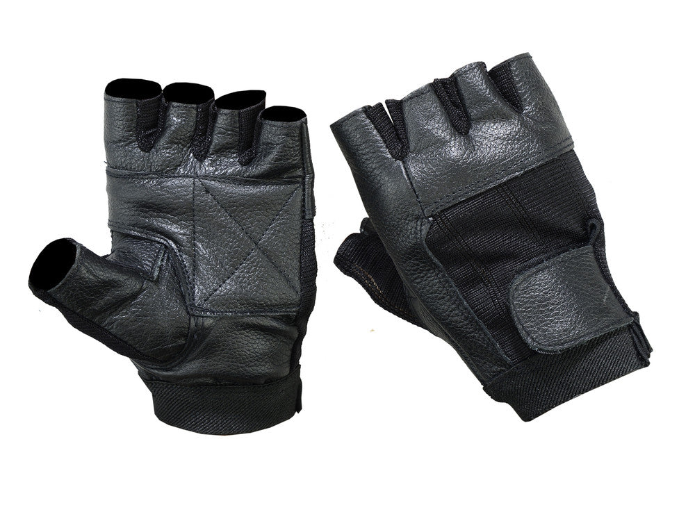 Leather / Mesh Fingerless Glove - Maine-Line Leather