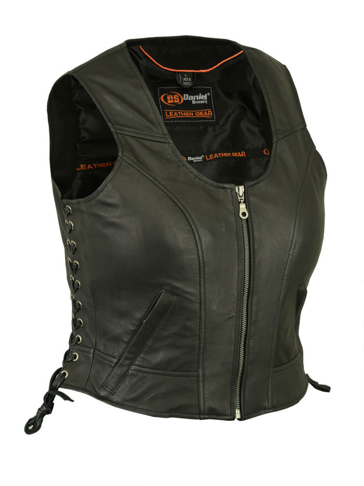 Women's Stylish Lightweight Vest - Maine-Line Leather - 1