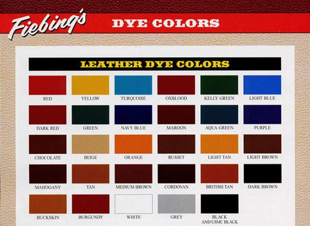 Fiebing's Leather Dye 4 oz - Maine-Line Leather