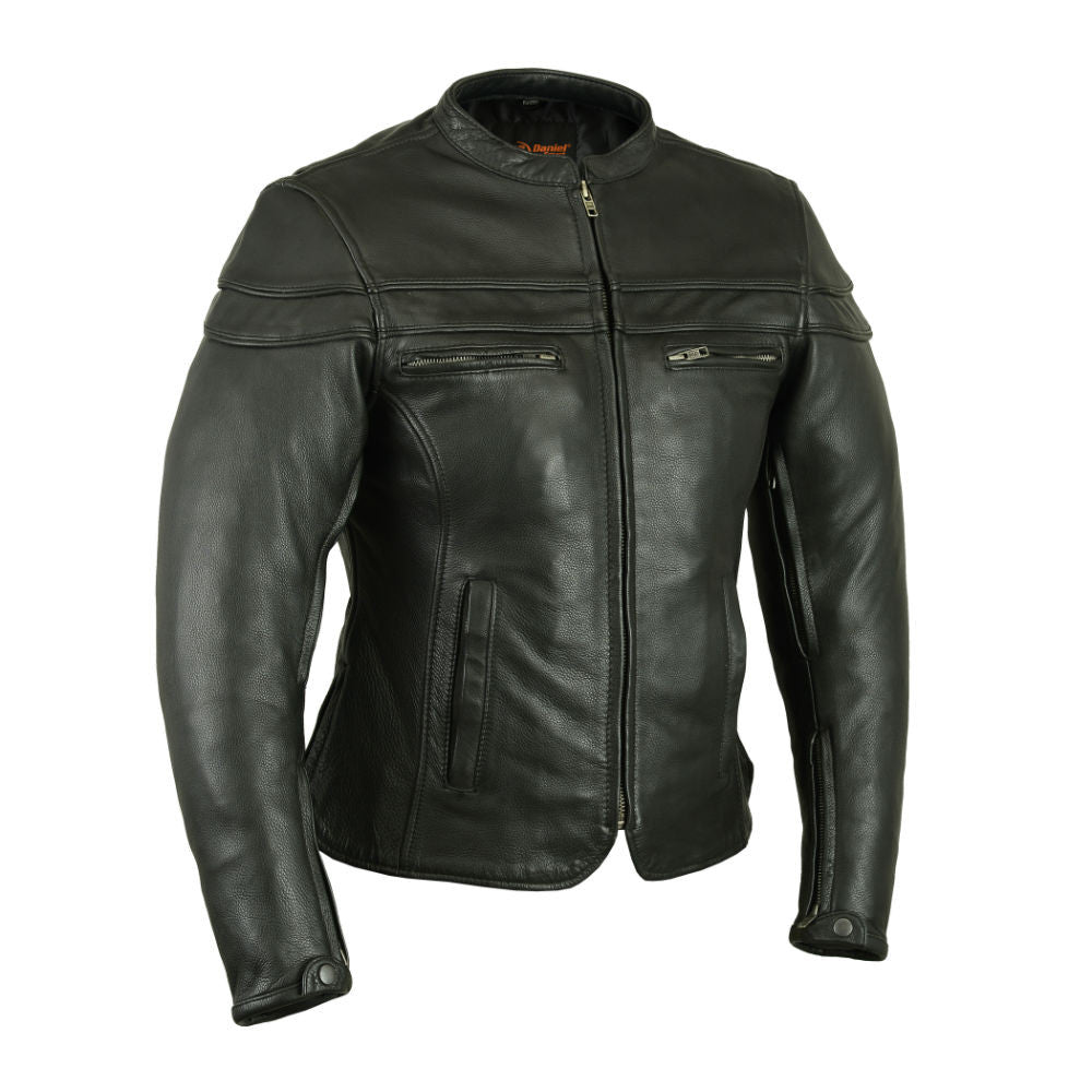 Women's Sporty Scooter Jacket - Maine-Line Leather - 1
