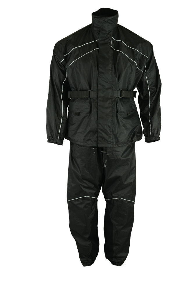 Rain Suit Black - Maine-Line Leather - 1